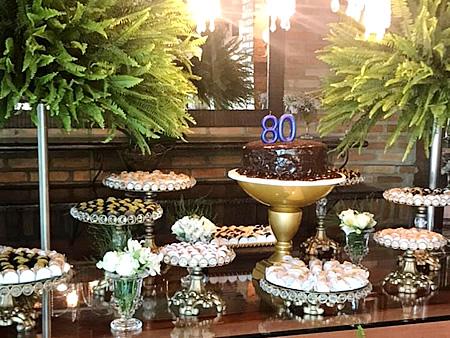 Almoço para comemoração do aniversário de 80 anos